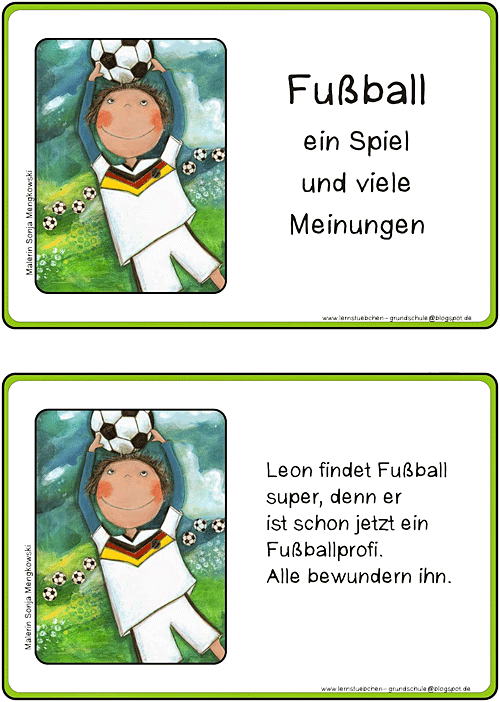 Unterrichtmaterial Grundschule Deutsch Schreibanlass Fußball