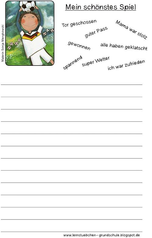 Unterrichtsmaterial Deutsch Grundschule Wortmaterial Fußball