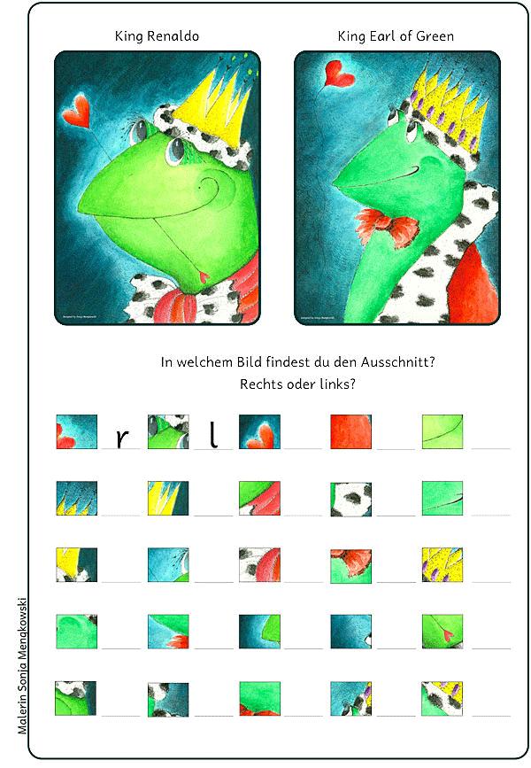 Unterrichtmaterial Deutsch Suchsel Froschkönige