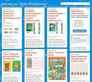 Bunte Kinderwelten auf Grundschulblogs.de