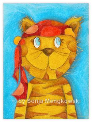 Pastellbild - Kater Lulu - Bilder für das Kinderzimmer