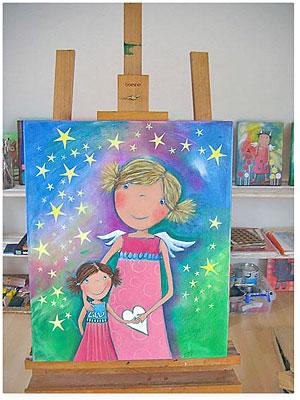 Acrylbild Schutzengel für Kinder