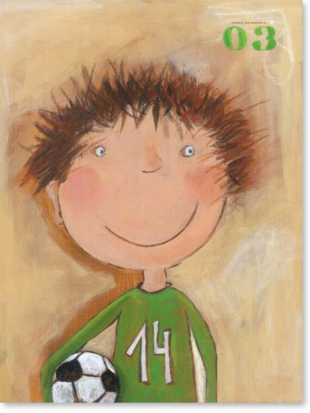 Acrylbild Tormann Tim - Leinwanddruck fürs Kinderzimmer