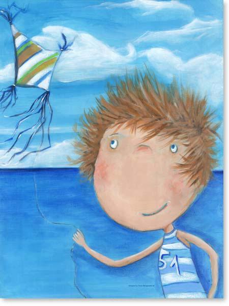 Acrylbild Drachenflieger Ben - Leinwanddruck fürs Kinderzimmer