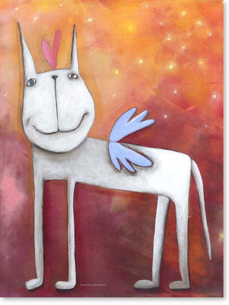 Acrylbild Angelpferd - Leinwandbild fürs Kinderzimmer