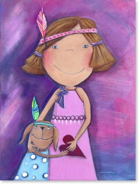 Acrylbild Freunde für immer - Leinwanddruck fürs Kinderzimmer