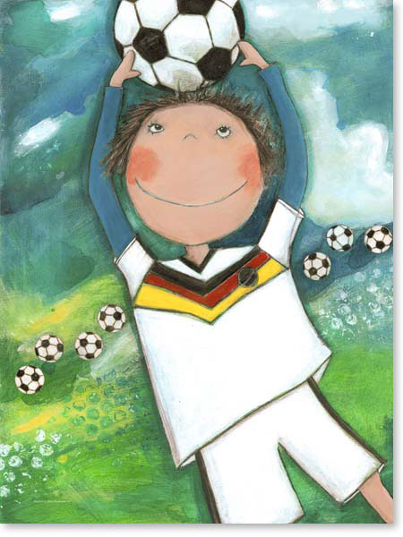 Acrylbild Fußball ist mein Leben - Leinwanddruck fürs Kinderzimmer