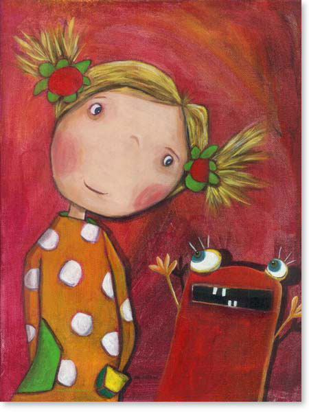 Acrylbild Lilli - Leinwanddruck fürs Kinderzimmer