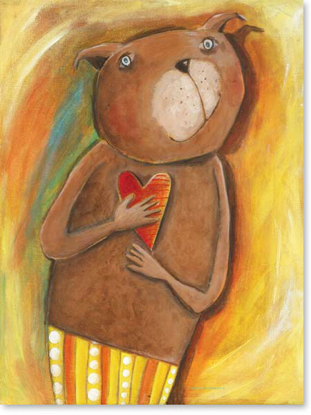 Acrylbild Mazo Bär- Leinwandbild fürs Kinderzimmer