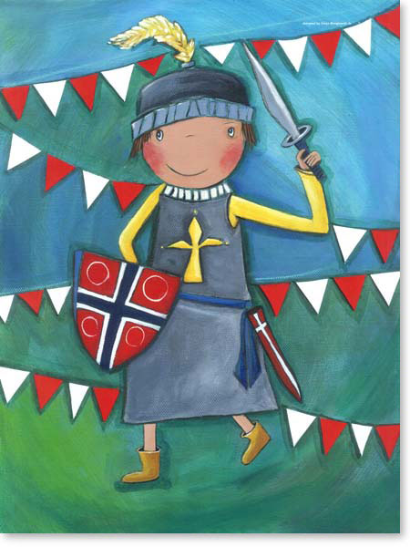 Acrylbild Ritter - Leinwanddruck fürs Kinderzimmer