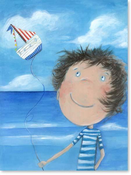 Acrylbild Seemann Tom- Leinwanddruck fürs Kinderzimmer