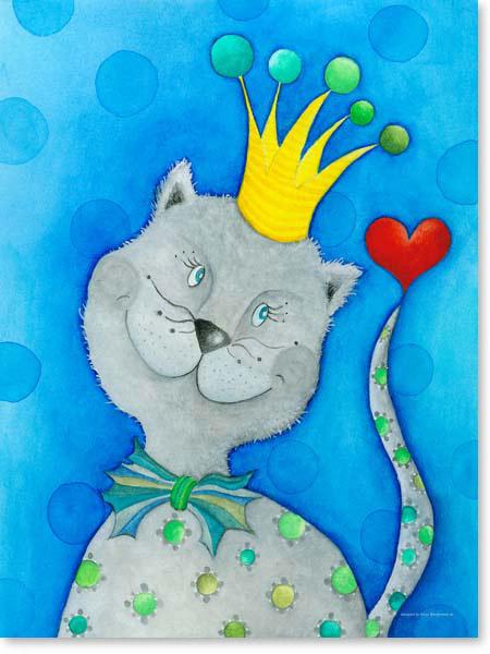 Pastellbild King Mika - Leinwandbild Kinderzimmer