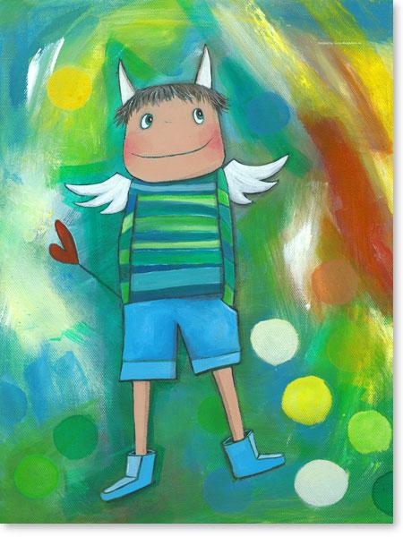 Acrylbild Schutzengel Jack - Wandbilder fürs Kinderzimmer