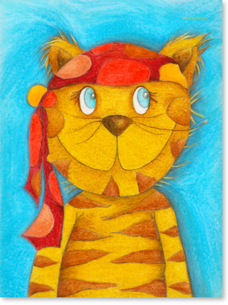 Pastellbild Kater Lulu - Wandbild fürs Kinderzimmer
