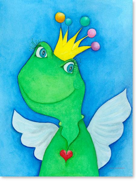 Pastellbild King Angel - Wandbild fürs Kinderzimmer