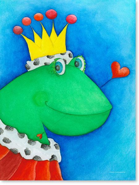 Pastellbild King Johan - Leinwandbild fürs Kinderzimmer