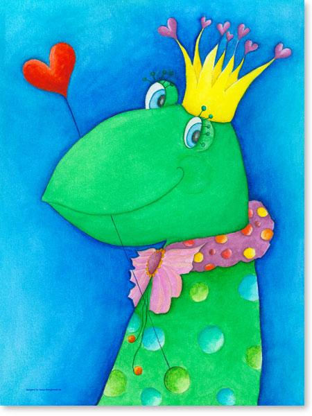 Pastellbild King Noel - Leinwandbild fürs Kinderzimmer