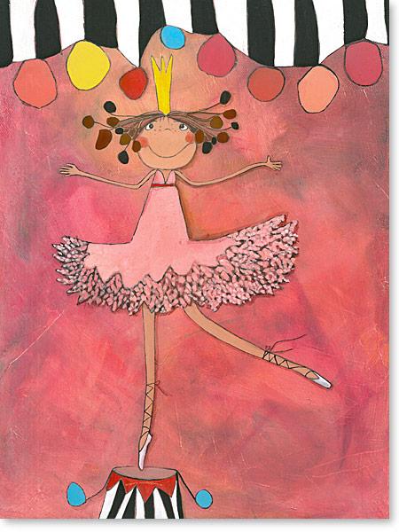 Primaballerina - Prima Ballerina die kleine Zirkus Prinzessin - Serie: Acrylbilder Motive fürs Kinderzimmer