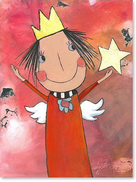 Die kleine Prinzessin Kinderlieb - Serie: Acrylbilder Motive fürs Kinderzimmer
