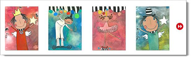 Acrylbilder- Galerie Serie: Bilder für Königskinder