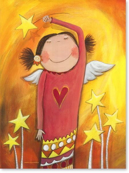 Acrylbild Engelchen - Leinwandbild fürs Kinderzimmer