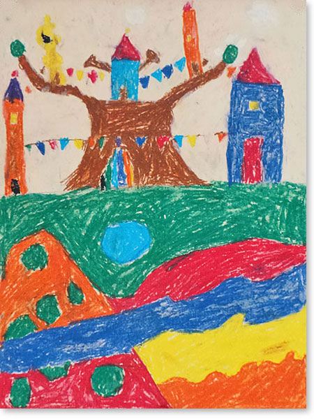 Kinderbild Motiv: Party Stadt von Julius D.