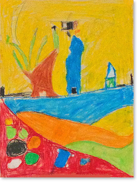 Kinderbild Motiv: Stadt der Sonne von Maxim K.