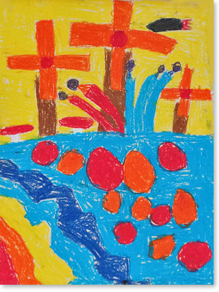 Kinderbild Motiv: Windmühlenstadt von Johan A.