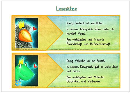 Unterrichtsmaterial Deutsch - Abstrakta Lesesätze