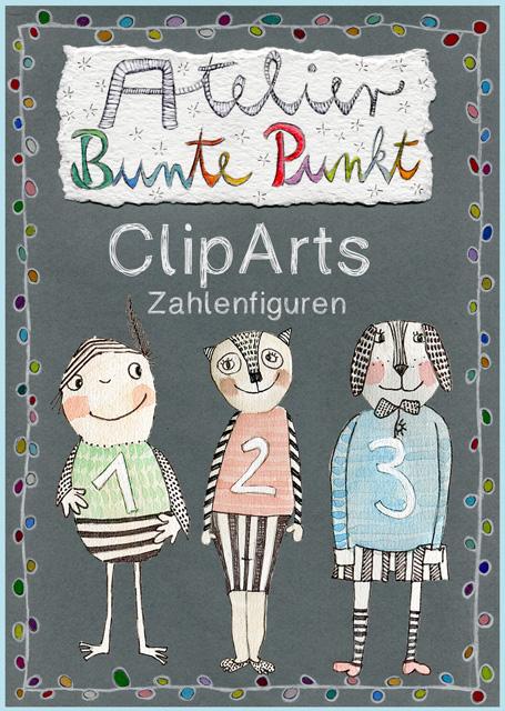 ClipArts Zahlen – Zahlenfiguren 0 – 9
