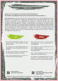 Nutzungsbedingungen für Unterrichtsmaterial